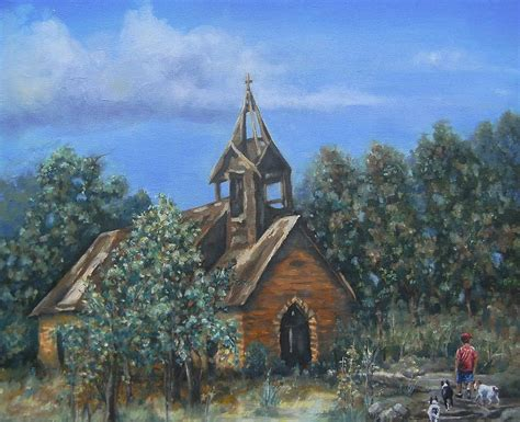 Old Country Church Painting By Pamela Humbargar