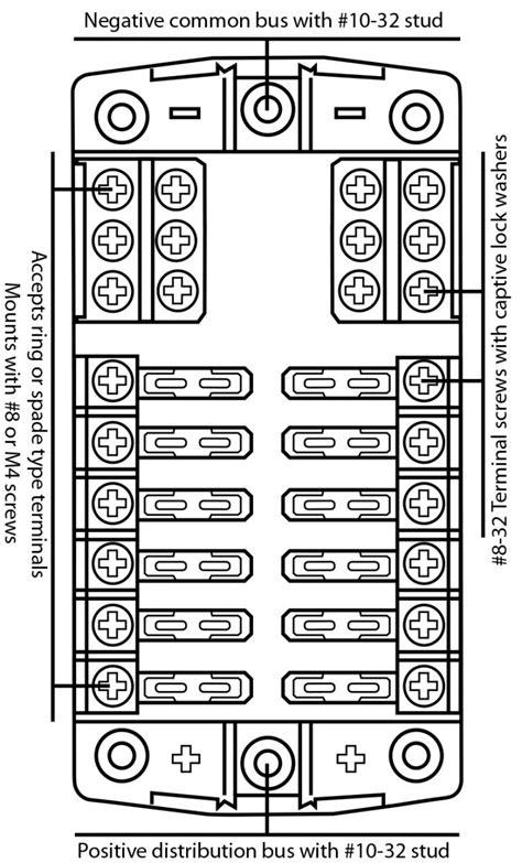 Fuse Block Box Holder Caravan Marine Dual Battery Volt
