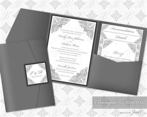 Printable Pocket Folder Invitation Digital Template