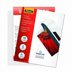 Fellowes laminating pouches thermal imagelast letter for Fellowes letter size laminating pouches 5 mil 150 pack