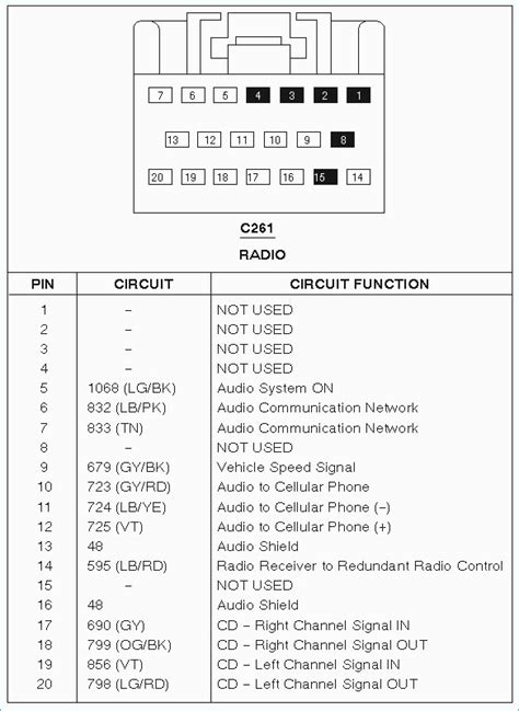 97 F150 Stereo Wiring Harnes by 1997 Ford Expedition Radio Wiring Automotive Wiring Diagrams
