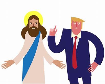 Jesus Trump Christ Animated Donald Film Trillmatic