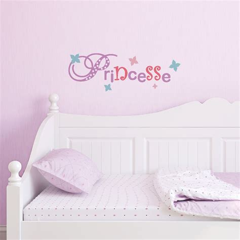 stickers fille chambre sticker mural quot lettrage princesse quot motif enfant fille