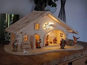 Krippe Weihnachten Holz : krippe weihnachtskrippe holz geflammt led licht 2 varianten krippenstall figuren eur 79 99 ~ A.2002-acura-tl-radio.info Haus und Dekorationen