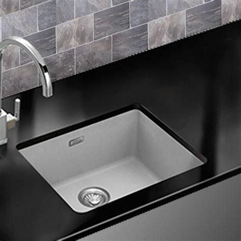 Franke Kubus KBG110 50 Fragranite Undermount Sink White