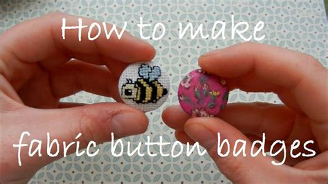 How To Make Fabric Button Badges Youtube