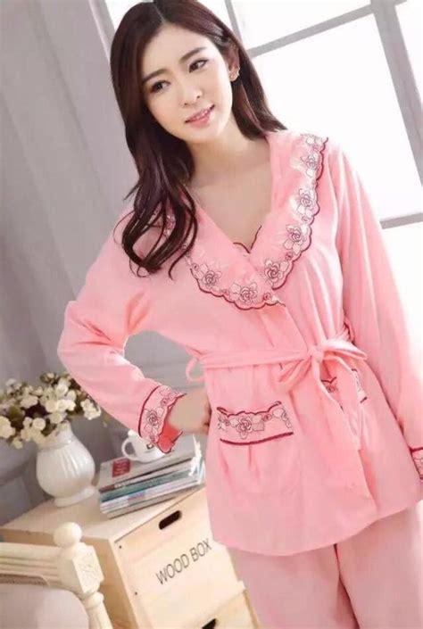 jual baju tidur piyama katun wanita lengan celana panjang murah peony di lapak ladies room