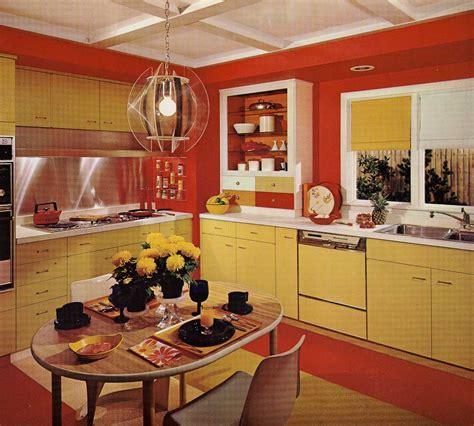 kitchen design  harvest gold kitchen decorated