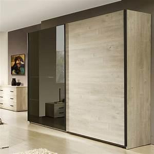 armoire 2 portes coulissantes contemporaine marius zd1 arm With porte d entrée alu avec salle de bain chene blanchi