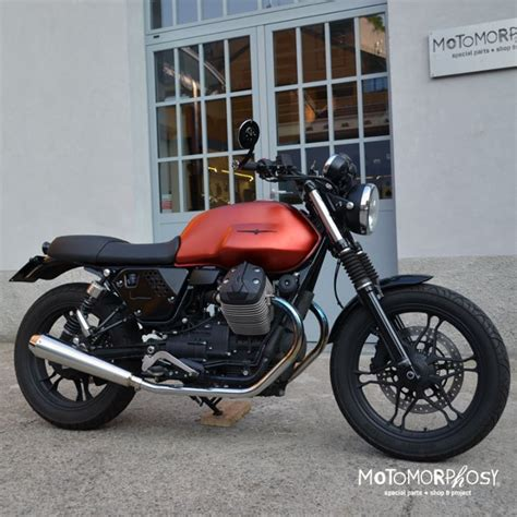Modification Moto Guzzi V7 Ii by Guzzi V7 Ii Caf 232 Racer Custom By Motomorphosys