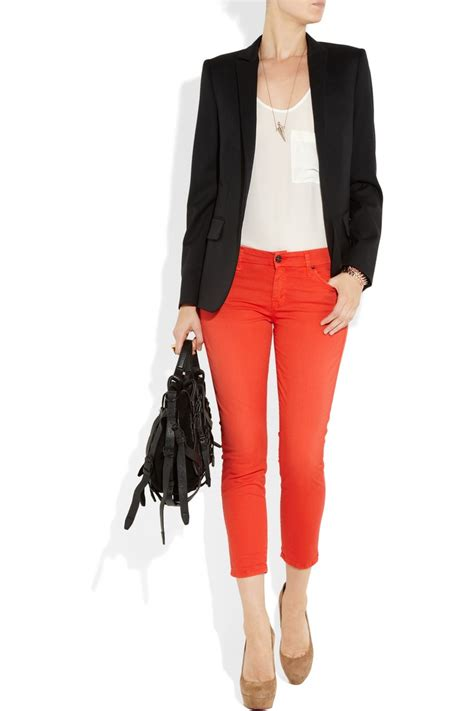 Best 25+ Red jeans outfit ideas on Pinterest | Red pants outfit Red skinny jeans and Red pants