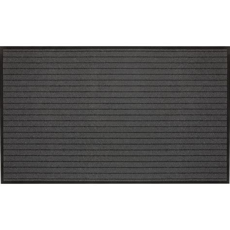tapie de cuisine paillasson synthétique gris l 150 x l 90 cm montana