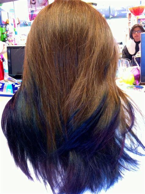 Deep Blue And Purple Dip Dye Hair Hair Hair Colored