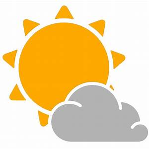 simple weather icons partly cloudy | SVG(VECTOR):Public ...