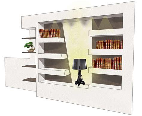 Libreria Cartongesso E Legno by Libreria In Cartongesso E Legno Top With Libreria In