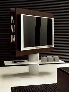 Meuble Tv Avec Etagere : cortes 7095 meuble porte tv tonin casa en bois et m tal avec tag re en verre sediarreda ~ Teatrodelosmanantiales.com Idées de Décoration