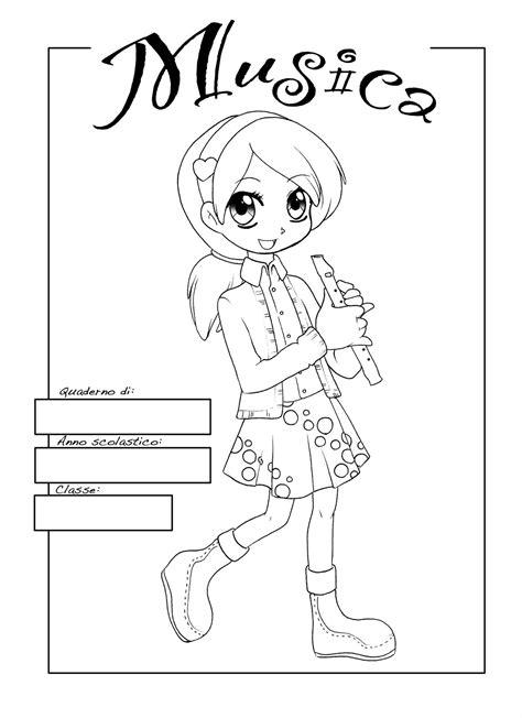 disegni per cover copertine da colorare per quaderni scuola primaria