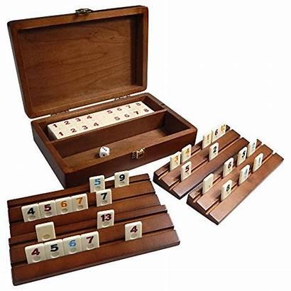 Rummy Wooden Board Mini Racks Wood Travel