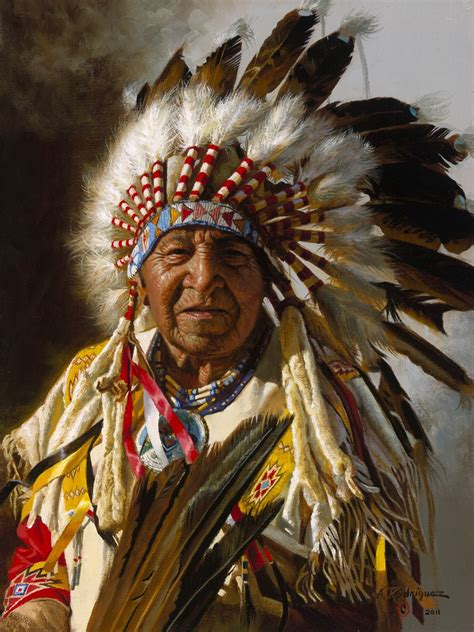 Indian Chief Picture by Chief Of The Plains By Alfredo Rodriguez