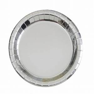 7 inch metallic paper plates silver