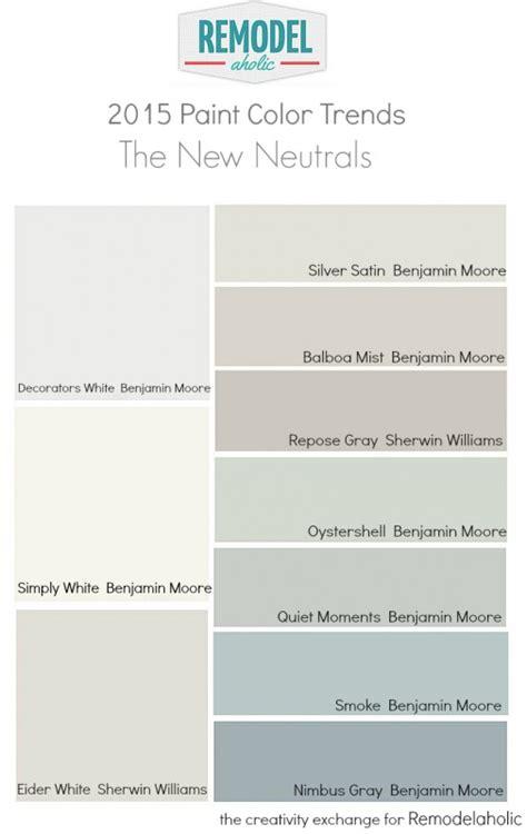 2015 favorite paint color trends the new neutrals