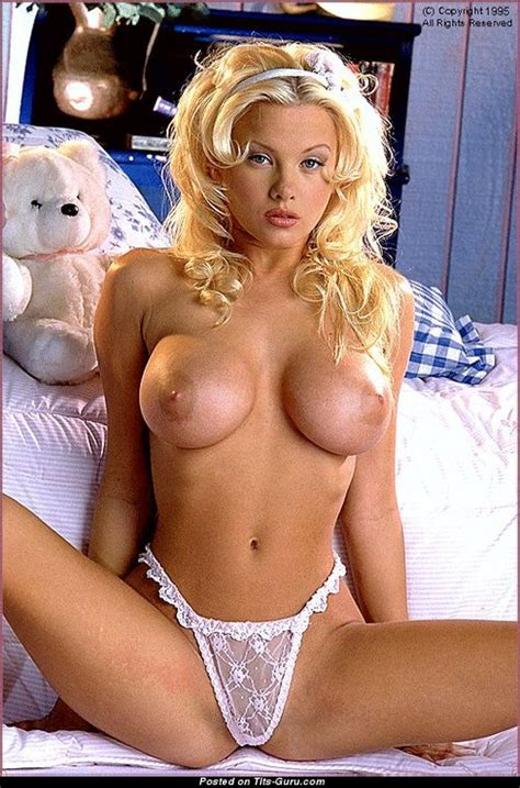 Chloe Jones Blonde Babe With Bare Round Fake C Size