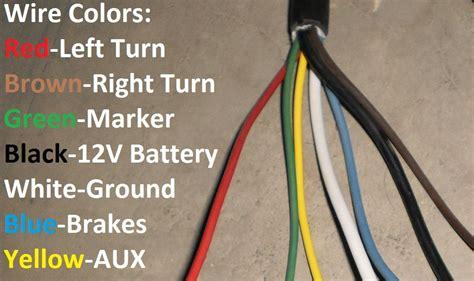 trailer plug wire colors  wire trailer diagram