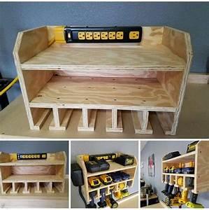 41 Woodworking Tool Storage Plans, Cordless Tool Storage