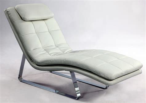 chaise luge bonded leather tufted chaise lounge with chrome legs
