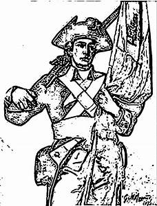 Revolutionary War Soldier Coloring Page - Coloring Home