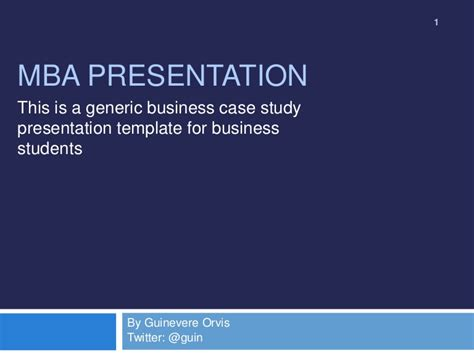 mba case study  template