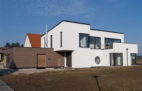 Haus Modern Flachdach by Einfamilienhaus Modern Holzhaus Flachdach Garage Mit