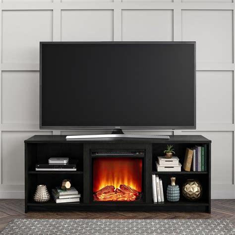 mainstays fireplace tv stand  tvs    black oak