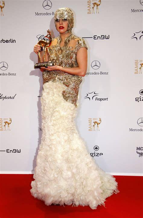 lady gaga  gold alexander mcqueen  bambi media awards  wiesbaden germany hawtcelebs