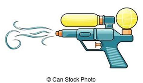 water gun clipart children with water gun in the park stock