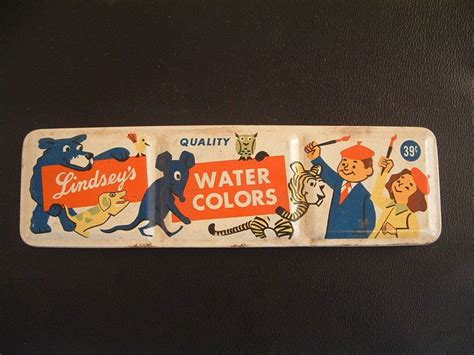 Vtg Lindseys Quality Water Colors Paint Box Tin Brushes Pat Dec. 8 1931 Graphics Diy Wooden Floating Shelves Black Oxide Stainless Make Your Own Headboard Jewelry Chain Baby Infinity Scarf Bib Best Friend Graduation Gifts Ceiling Fans Installed Easy Confetti Cannon