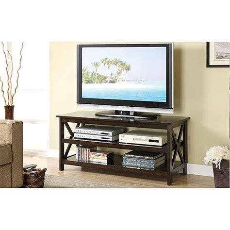 oak dark walnut finish tv stand  media console