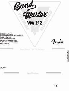 Fender Speaker System Vm 212 User Guide