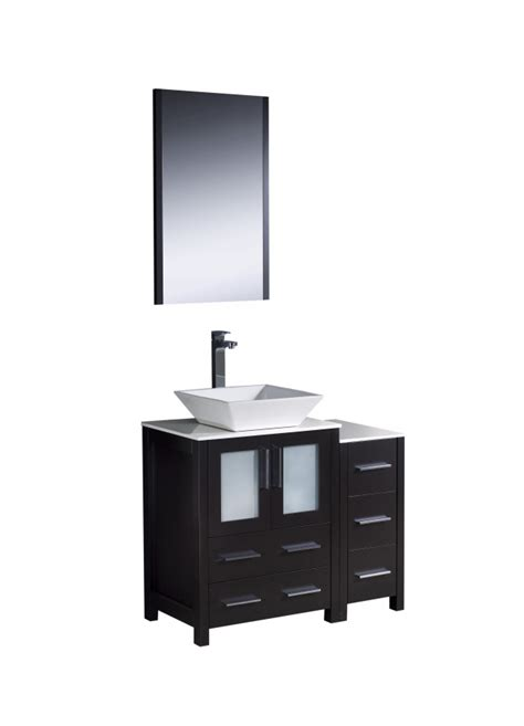 vessel sink bathroom vanity  espresso