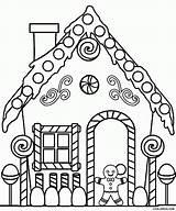 Coloring Gingerbread Printable Simple Popular sketch template