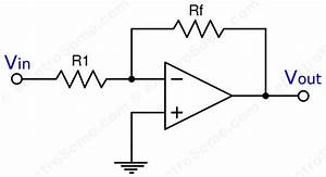 inverting amplifier using opamp With op amp diagram