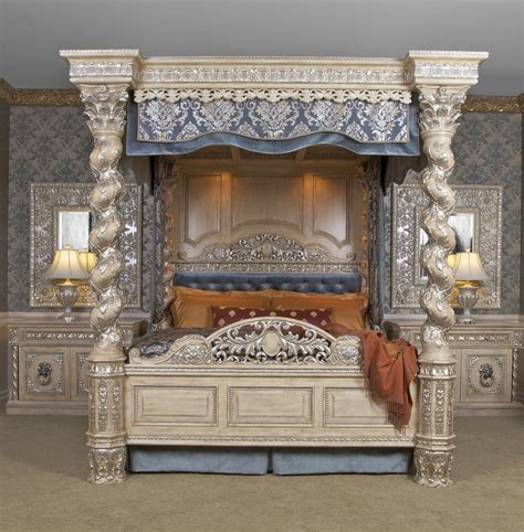renaissance canopy bed ultra king worlds