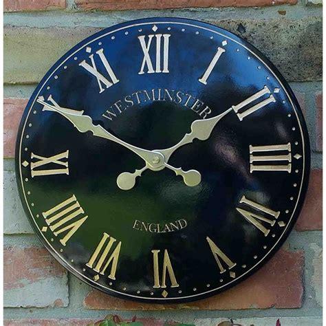 westminster garden clock black the garden factory