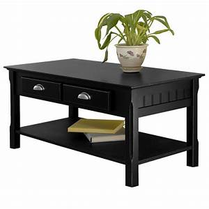 winsome timer coffee table drawers and shelf by oj With coffee table with drawers and shelf