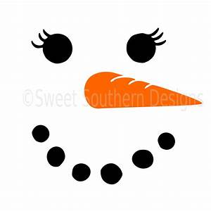 Snowman girls face winter christmas SVG instant download