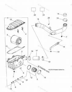 Polaris Side By Side 2014 Oem Parts Diagram For Engine  Air Intake System