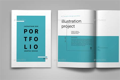 12235 portfolio book layout design graphic design portfolio template by adekfotografia