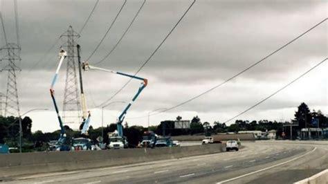 hwy   burlingame reopens  power  repairs