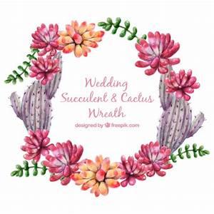 mignon aquarelle couronne de fleurs et de cactus pour le With chambre bébé design avec aquarelle fleurs pour mariage