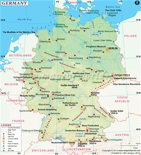 Germany Map Map Of Germany Information And Interesting